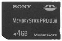 Memory Stick Pro Duo Sony 4GB, 8GB y 16GB High Speed